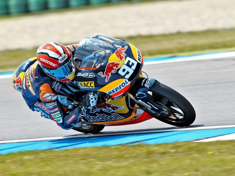 Marc Marquez in action in Assen