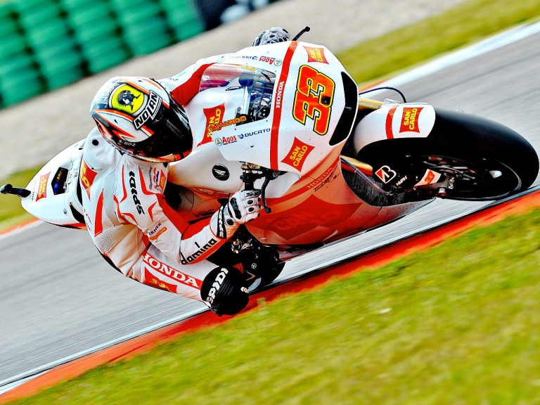 marco Melandri on track at Assen