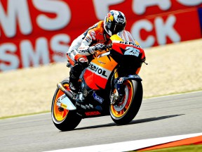 Dani Pedrosa in action at Assen