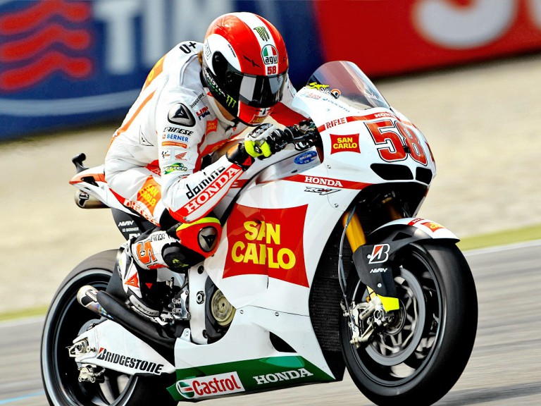 Marco Simoncelli on track at Assen
