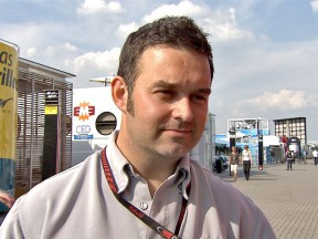 motogp.com Commentator Gavin Emmett at the paddock in Assen