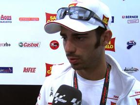 Injured Melandri discusses FP2 crash