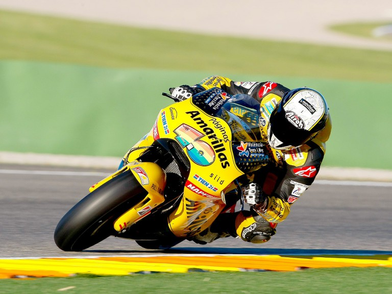 Héctor Barberá in action at Valencia test