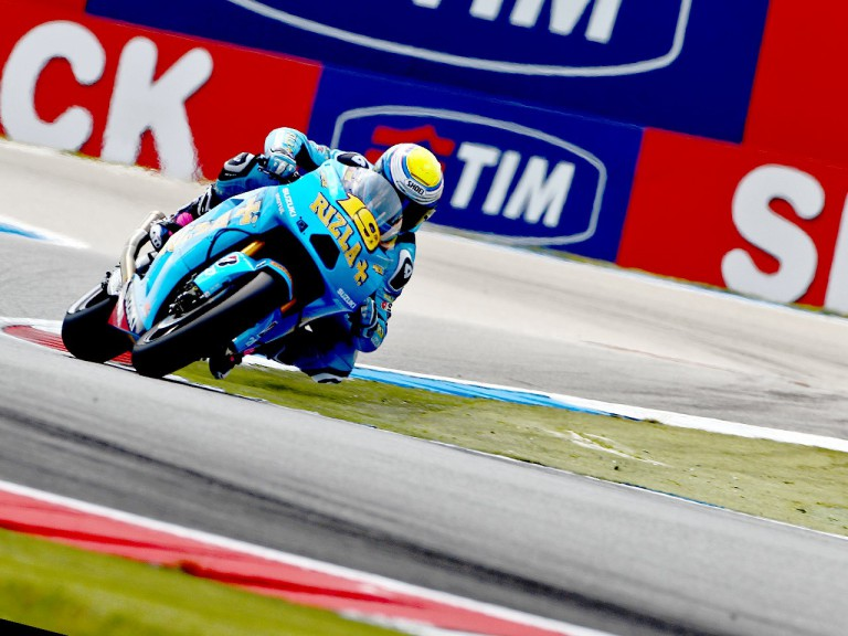 Alvaro Bautista in action in Assen