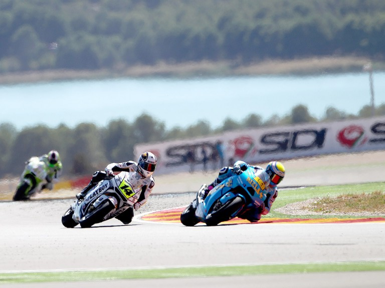 Alvaro Bautista in action at Motorland Aragón