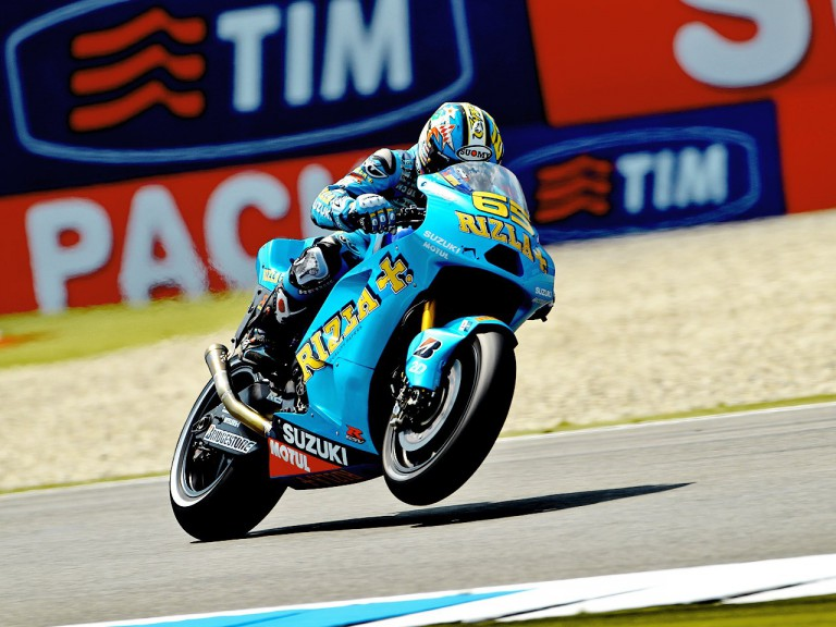 Loris Capirossi in action at Assen