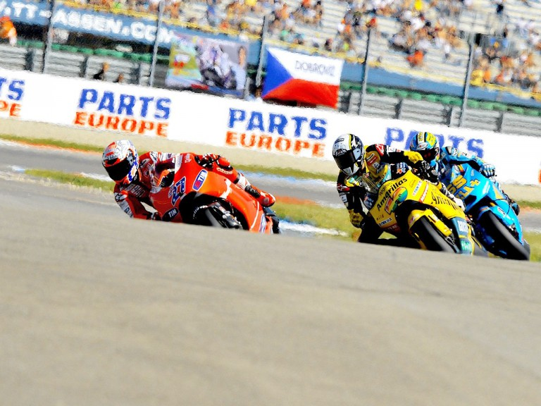 MotoGP action in Assen