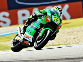 Andrea Iannone in action in Assen