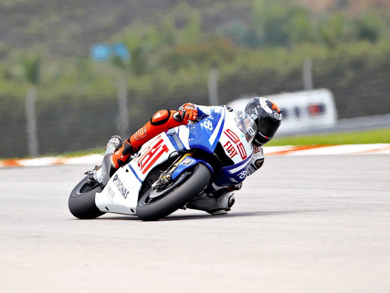 Jorge Lorenzo in action at Sepang