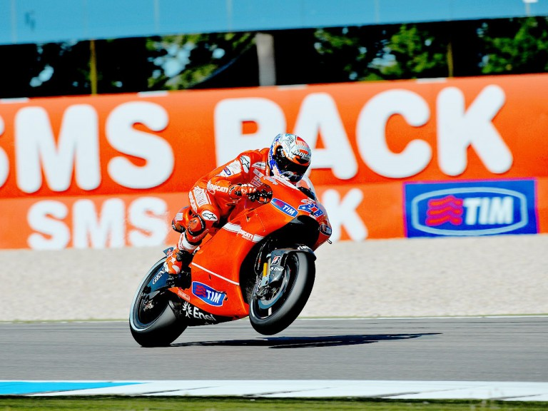 Casey Stoner in action at Assen