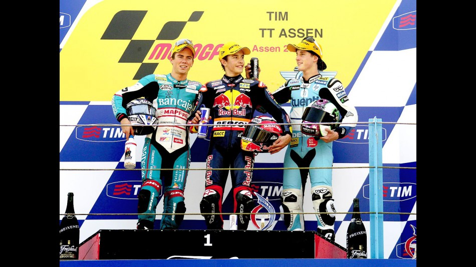 Terol, Marquez and Espargaró on the podium at Assen