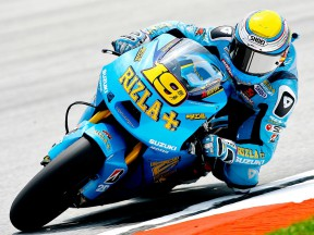 Alvaro Bautista in action at Sepang