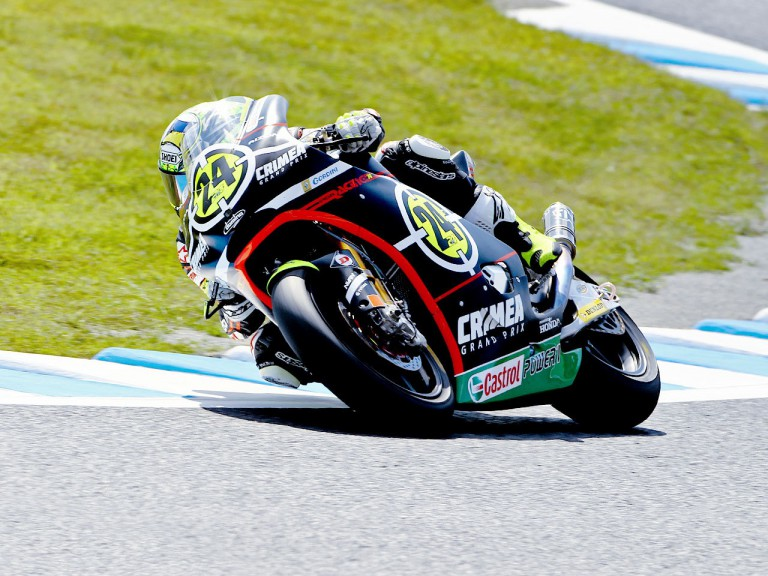 Toni Elias in action at Motegi