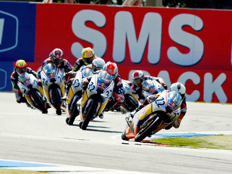 Red Bull Rookies Cup group in action in Assen