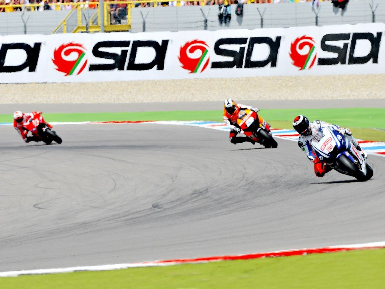 MotoGP group action in Assen