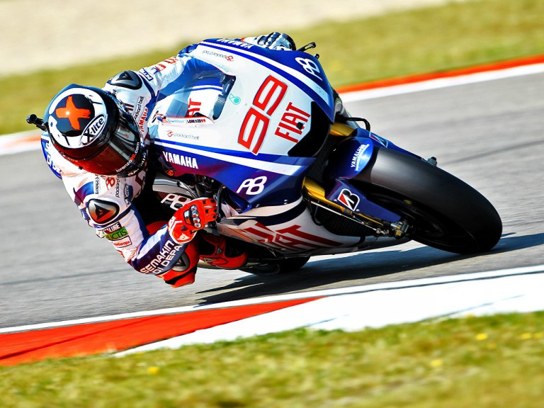 Jorge Lorenzo on track in Assen