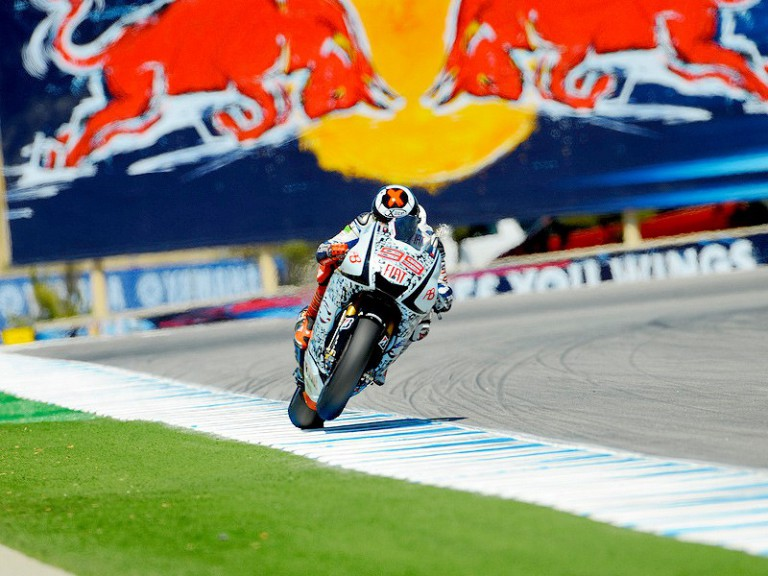 Jorge Lorenzo in action in Laguna Seca