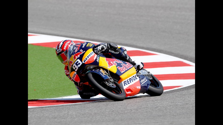 Marc Marquez in action at Misano