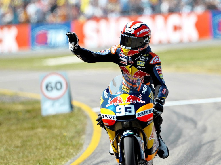 Marc Marquez after the 125cc race at Assen