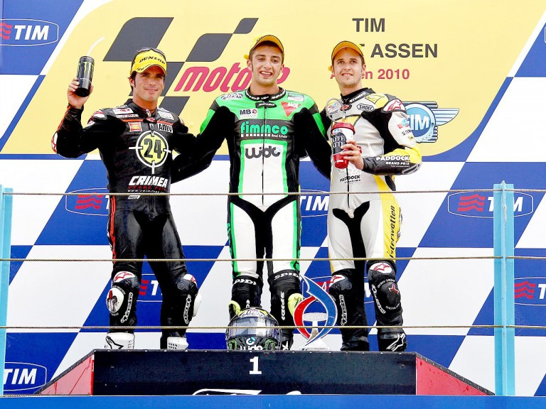 Elias, Iannone and Luthi on the podium in Assen