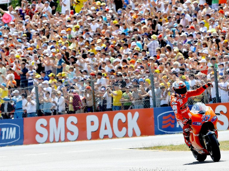 Casey Stoner after the race in Assen