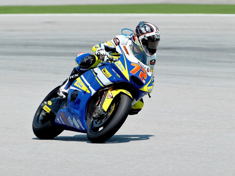 Yuki Takahashi in action at Sepang