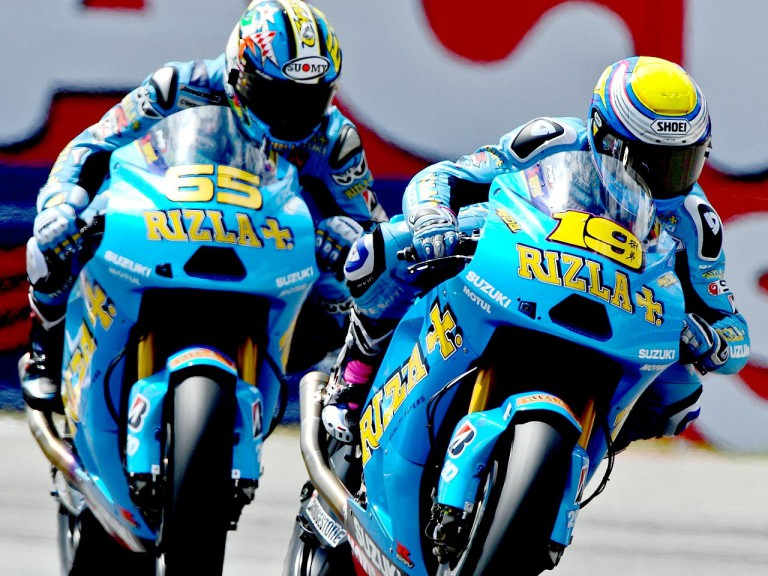 Bautista and Capirossi in action