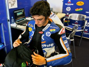 Axel Pons in the Tenerife 40 Pons garage