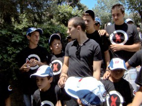 Jorge Lorenzo visiting a Barcelona orphanage