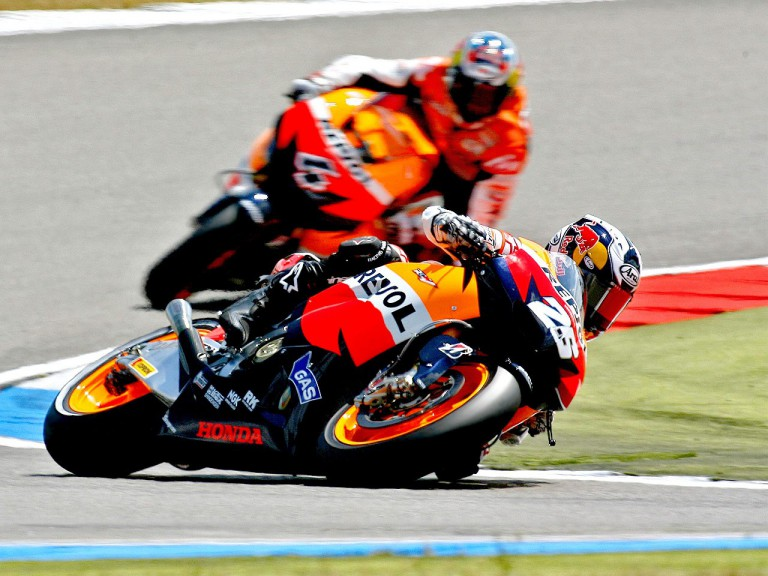 Pedrosa and Dovizioso action shot
