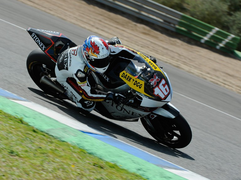Jules Cluzel on track at the Jerez test