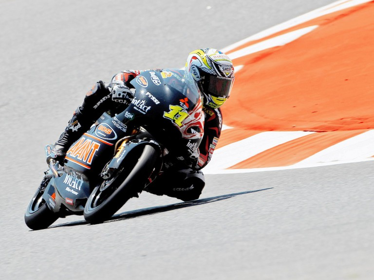 Sandro Cortese in action in Montmeló