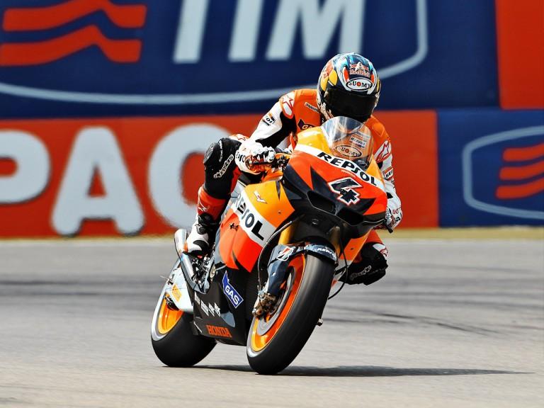Andrea Dovizioso on track at Assen