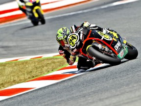 Toni Elias in action in Montmeló