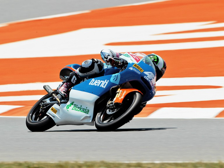 Pol Espargaró in action in Montmeló