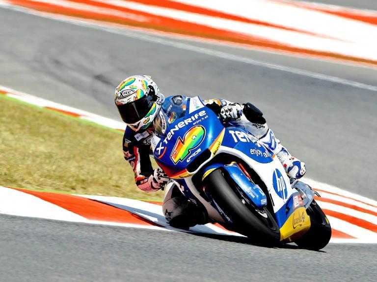 Sergio Gadea in action at the Catalunya Circuit