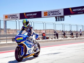 Sergio Gadea at the Aragon Motorland Test