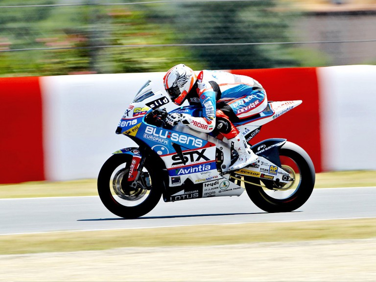 Yonny Hernandez in action at the Catalunya Circuit