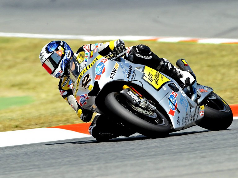 Thomas Luthi on track at the Catalunya Circuit