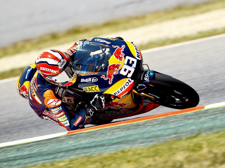 Marc Marquez in action in Montmeló