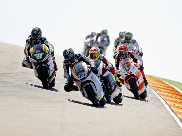 Scott Redding riding ahead of Moto2 group at Motorland Aragón