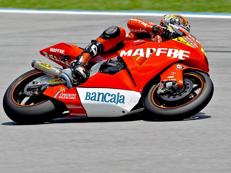 Julián Simón in action at Sepang