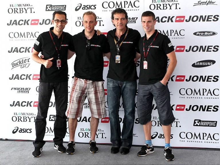 Antonio Banderas in the MotoGP paddock at Catalunya
