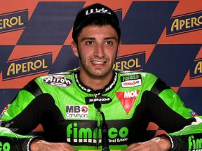Catalunya 2010 - Moto2 - QP - Interview - Andrea Iannone