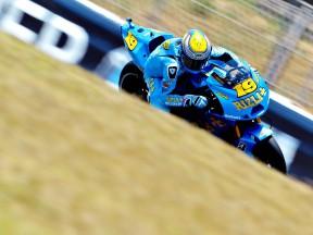 Alvaro Bautista in action at the Catalunya Circuit