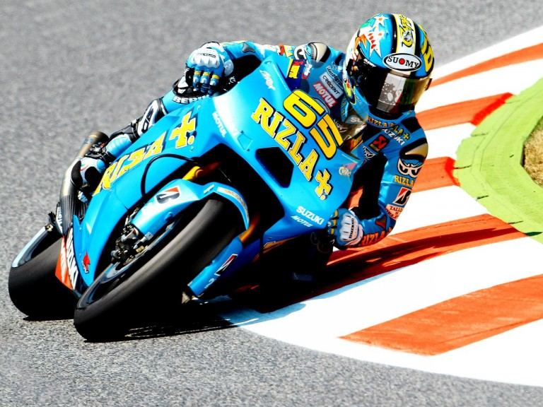 Loris Capirossi in action at the Catalunya Circuit