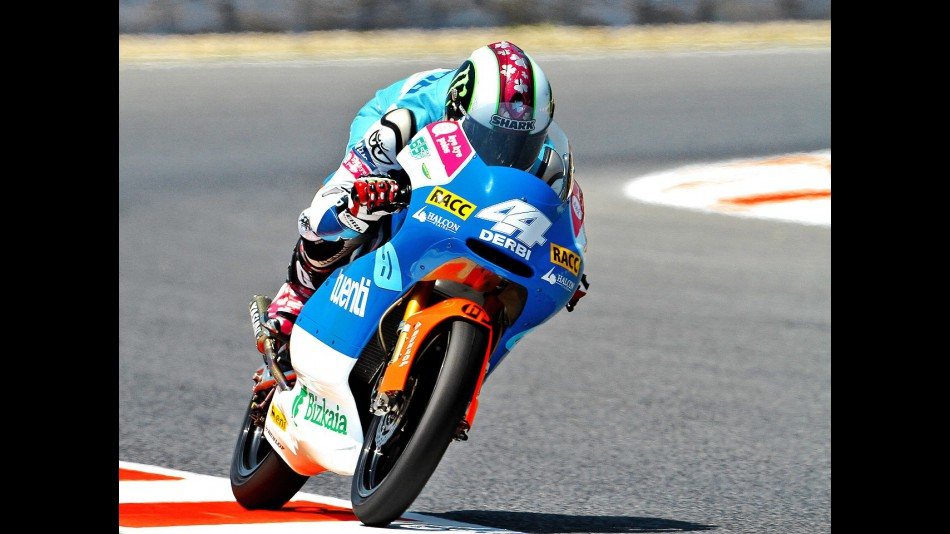 Pol Espargaró in action at the Catalunya Circuit