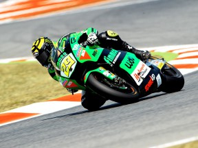 Andrea Iannone in action at the Catalunya Circuit