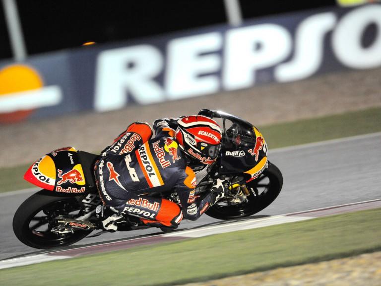 Marc Marquez in action in Qatar
