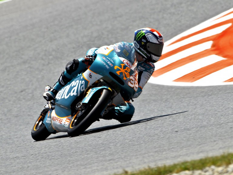 Bradley Smith in action at the Catalunya Circuit